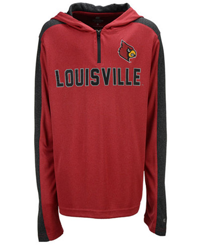 Colosseum Louisville Cardinals Hotshot Quarter-Zip Hoodie, Big Boys (8-20)