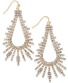 Thalia Sodi Silver-Tone Pavé Drop Earrings, Created for Macy's