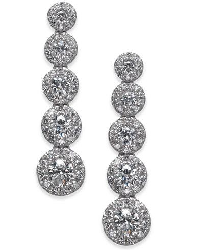 Diamond Journey Drop Earrings (1 ct. t.w.) in 14k White Gold