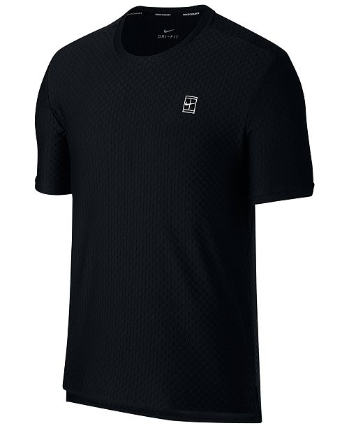 f73ce46cfc67 Nike Men s NikeCourt Dri-Fit Tennis T-Shirt   Reviews - T-Shirts ...
