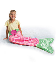 CLOSEOUT! Snuggie Tails Soft Cuddly Throw Blanket, Mermaid