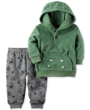Carters 2Pc Monster Hoodie  Fleece Jogger Pants Set Baby Boys (024 months)