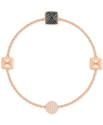 Remix Collection Rose Gold-Tone Pavé Pyramid Magnetic Closure Bracelet