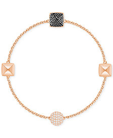 Swarovski Remix Collection Rose Gold-Tone Pavé Pyramid Magnetic Closure Bracelet