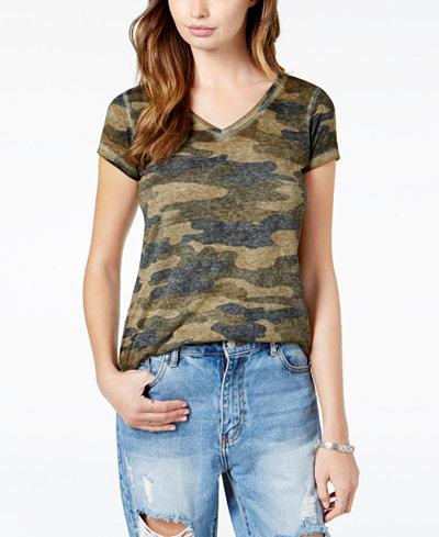 Lucky Brand Camo-Print T-Shirt