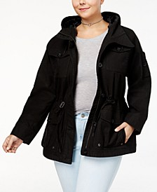 Trendy Plus Size  Utility Jacket