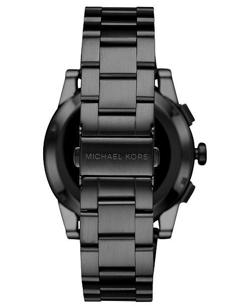5503a06bfe57 ... Michael Kors Access Men s Grayson Black Stainless Steel Bracelet  Touchscreen Smart Watch ...