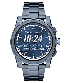 Michael Kors Access Men's Grayson Blue Stainless Steel Bracelet Touchscreen Smart Watch 47mm