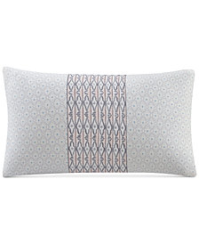"Echo Avalon Cotton Embroidered 10"" x 20"" Decorative Pillow"