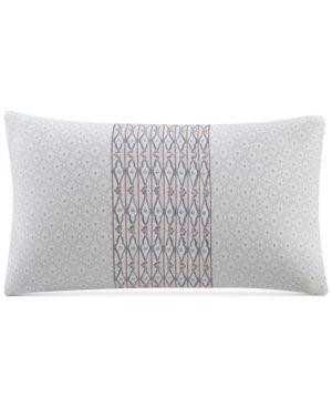 "Echo Avalon Cotton Embroidered 10"" x 20"" Decorative Pillow Bedding 5010834"