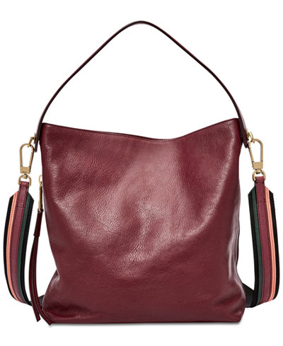 Fossil Maya Small Hobo Handbags Amp Accessories Macy S