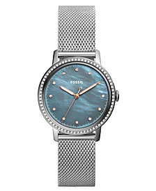 Fossil Women's Neely Stainless Steel Mesh Bracelet Watch 34mm