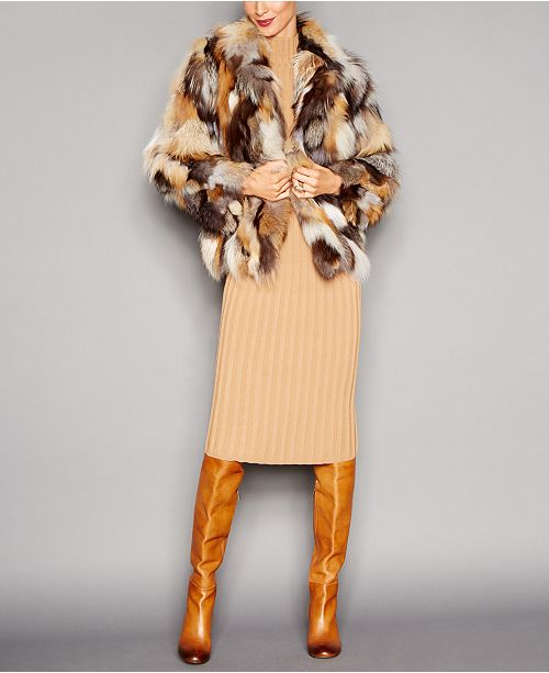The Fur Vault Fox Sections Jacket, 1725