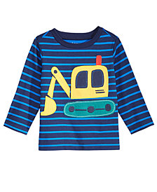 First Impressions Digger-Print Cotton T-Shirt, Baby Boys, Created for Macy's