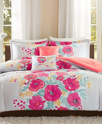 Intelligent Design Elodie 5 Pc Reversible Comforter Sets Bed In A
