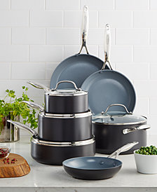 GreenPan Valencia Pro Ceramic Non-Stick 11-Pc. Cookware Set with Bonus Pan Protectors