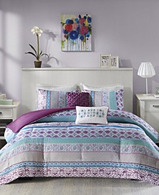 Joni 5-Pc. Reversible Full/Queen Comforter Set