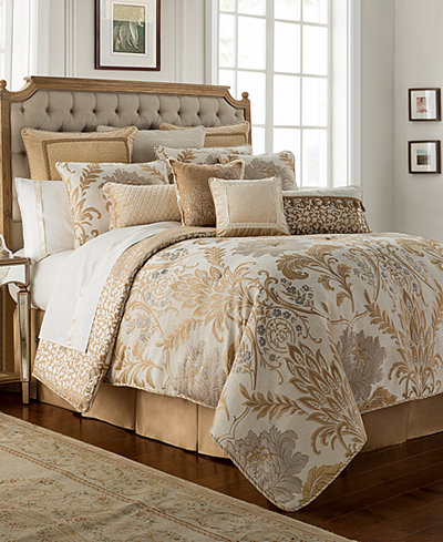 Waterford Ansonia Ivory 4 Pc Queen Comforter Set