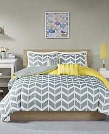 Nadia 5-Pc. Reversible Full/Queen Comforter Set