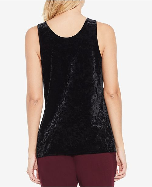 2afa31a1f54215 Vince Camuto Crushed Velvet Tank Top   Reviews - Tops - Women - Macy s