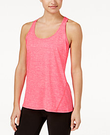 Ideology Rapidry Heathered Racerback Performance Tank Top, Created for Macy's