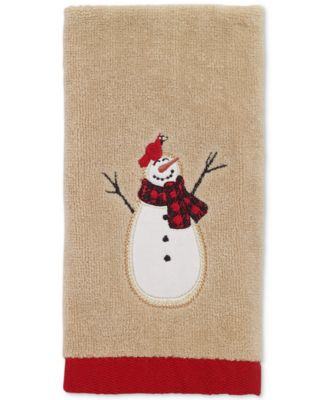Snowman Gathering Fingertip Towel