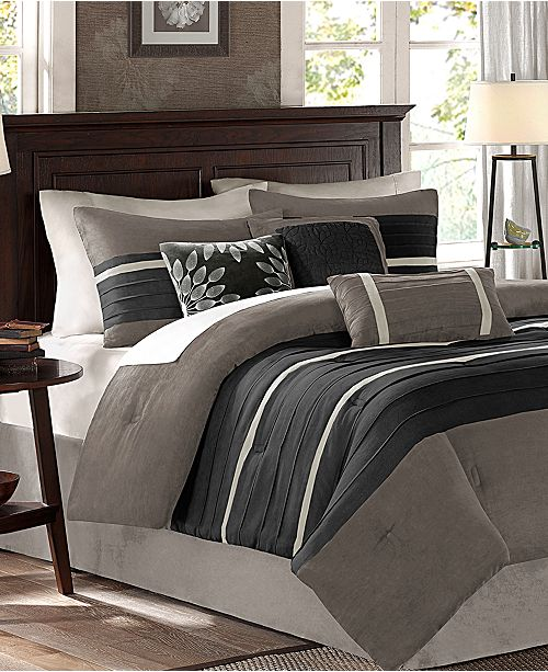 Madison Park Palmer Microsuede 7 Pc Full Comforter Set