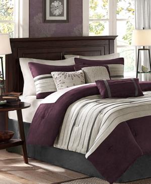 Madison Park Palmer Microsuede 7Pc Full Comforter Set Bedding
