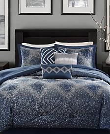 Madison Park Quinn 7-Pc. Geometric Jacquard King Comforter Set