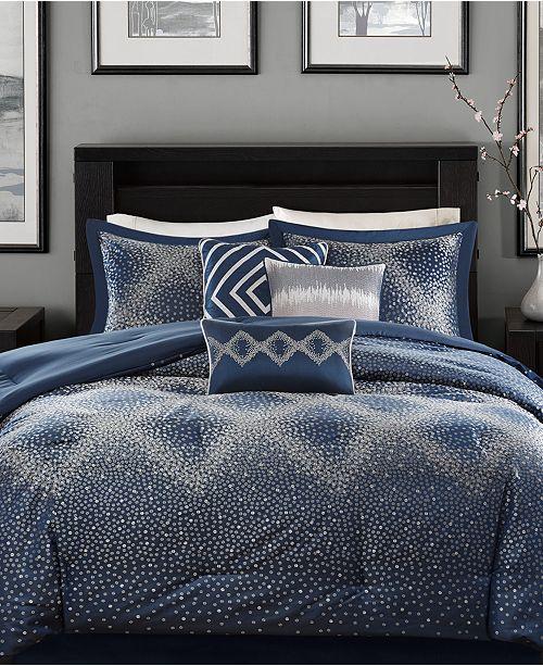 Madison Park Quinn 7-Pc. Geometric Jacquard California King Comforter Set