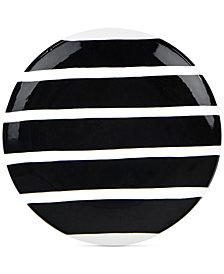 Coton Colors Black Plank Salad Plate