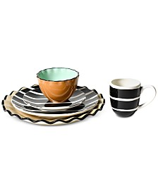 Coton Colors Black Plank Dinnerware Collection