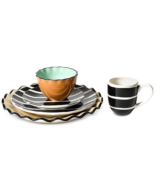 Coton Colors Black Plank Dinnerware Collection