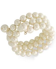 Carolee Gold-Tone Imitation Pearl Multi-Row Bracelet