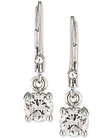 Carolee Silver-Tone Crystal Drop Earrings