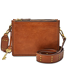 Fossil Campbell Studded Guitar-Strap Mini Crossbody