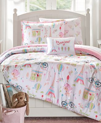 Bonjour 6-Pc. Reversible Twin Comforter Set