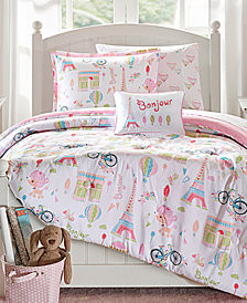 Mi Zone Kids Bonjour 6-Pc. Reversible Twin Comforter Set