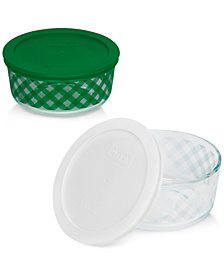 Pyrex 4-Pc. Plaid Storage Set