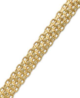 Italian Gold Bombay Bismark Chain Bracelet in 14k Gold Jewelry