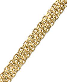 Italian Gold Bombay Bismark Chain Bracelet in 14k Gold