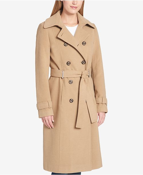 Tommy Hilfiger Wool-Blend Trench Coat
