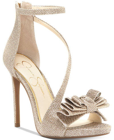 Jessica Simpson Remyia Bow Dress Sandals Sandals Shoes
