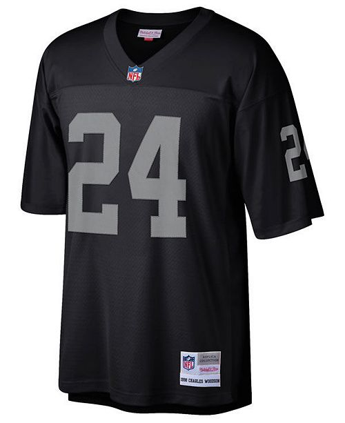 the best attitude d3120 a53fa Men's Charles Woodson Oakland Raiders Replica Throwback Jersey