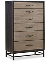 Avery Brown 5 Drawer Chest