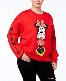 Disney Trendy Plus Size Minnie Mouse Graphic Sweatshirt