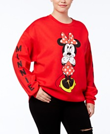 Disney Trendy Plus Size Minnie Mouse Graphic Sweatshirt