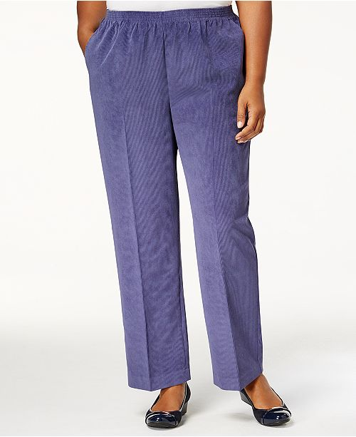 99bab3e21d1 Alfred Dunner Plus Size Classics Corduroy Pull-On Pants   Reviews ...
