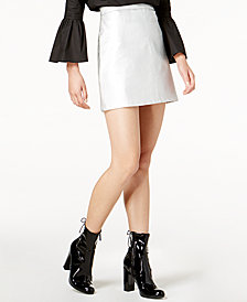 Glam by Glamorous Faux-Leather Mini Skirt