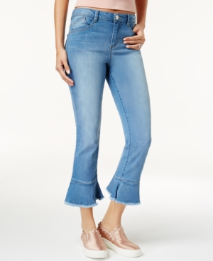 Rewind Juniors Cropped Flared Jeans